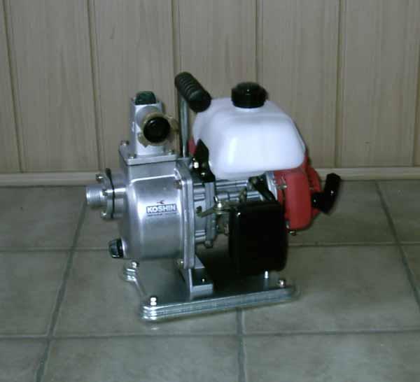 Benzinmotorpumpen